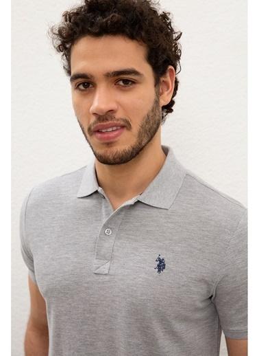 U.S. Polo Assn. U.S. Polo Assn. Slim Fit Erkek T-Shirt Gri